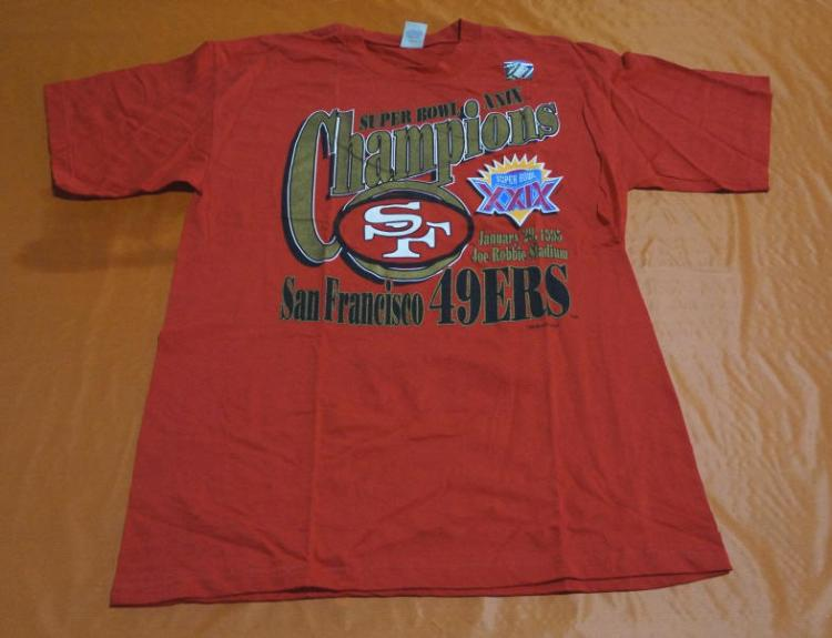 Lot of four new 49er 39 s shirts for Shirt printing stockton ca