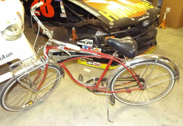 Vintage 1950's Original Red Schwinn Bicycle