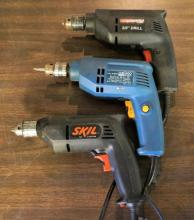 3 Electric Drills