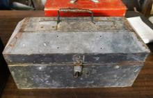Metal Tool Box With Misc Tools