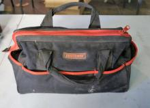 Black Craftsman Tool Bag With Misc Tools