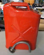Red Metal 3 Gallon Gas Can