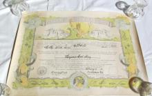 Large Certificate from 1942