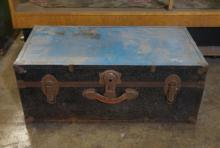 Vintage Small Black And Blue Chest