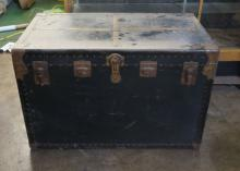 Vintage Large Black And Green Chest