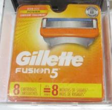 GILLETTE Fusion 5 Cartridges-New in Box-Set of 8
