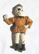Vintage Cast Iron Clown Figurine.