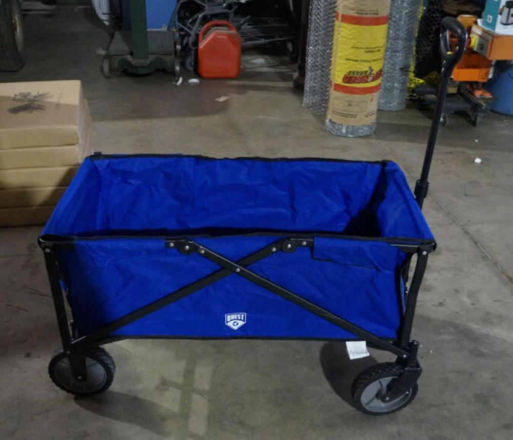 new blue quest brand fold up canvas wagon auctionzip