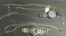 Tray Of Watches & Costume Jewelry