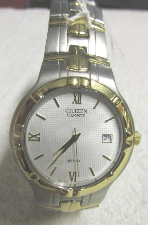 silver gold tone citizen quartz