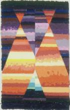 """JANE ECCLES, East Orleans, MA. """"Arabian Tapestry"""",. 2004, Pigments, methyl cellulose & linen pulp, 38'' x 24''. Framed: 45'' x 29''."""
