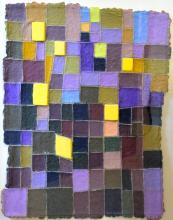 "JANE ECCLES, Cape Cod, Contemporary, ""Amethyst""., Handmade Paper, 18"" x 24"". Framed: 25"" x 31.5""."