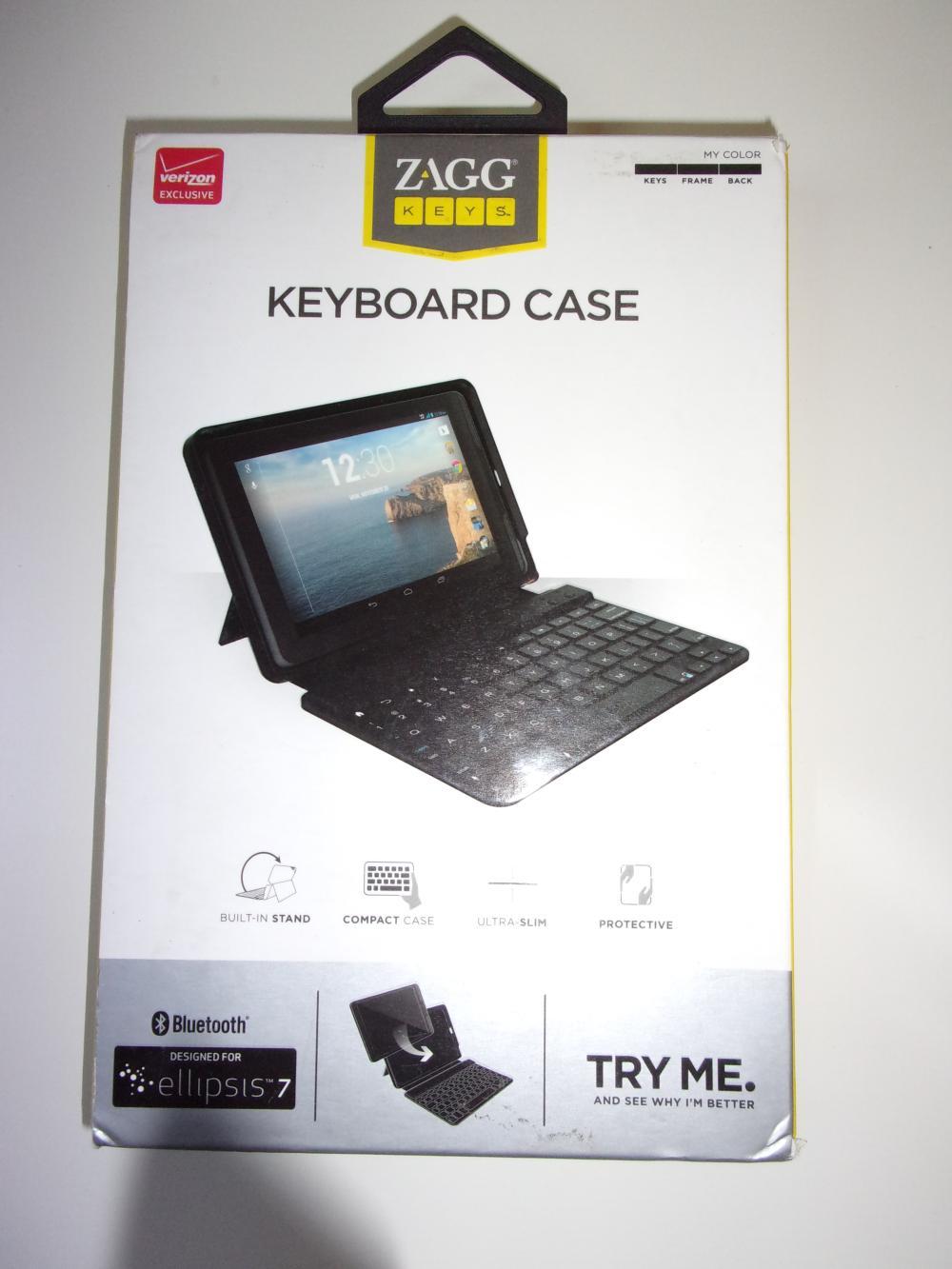 1  x **NEW ** Zagg Bluetooth Keyboard  Case for ellipsis 7