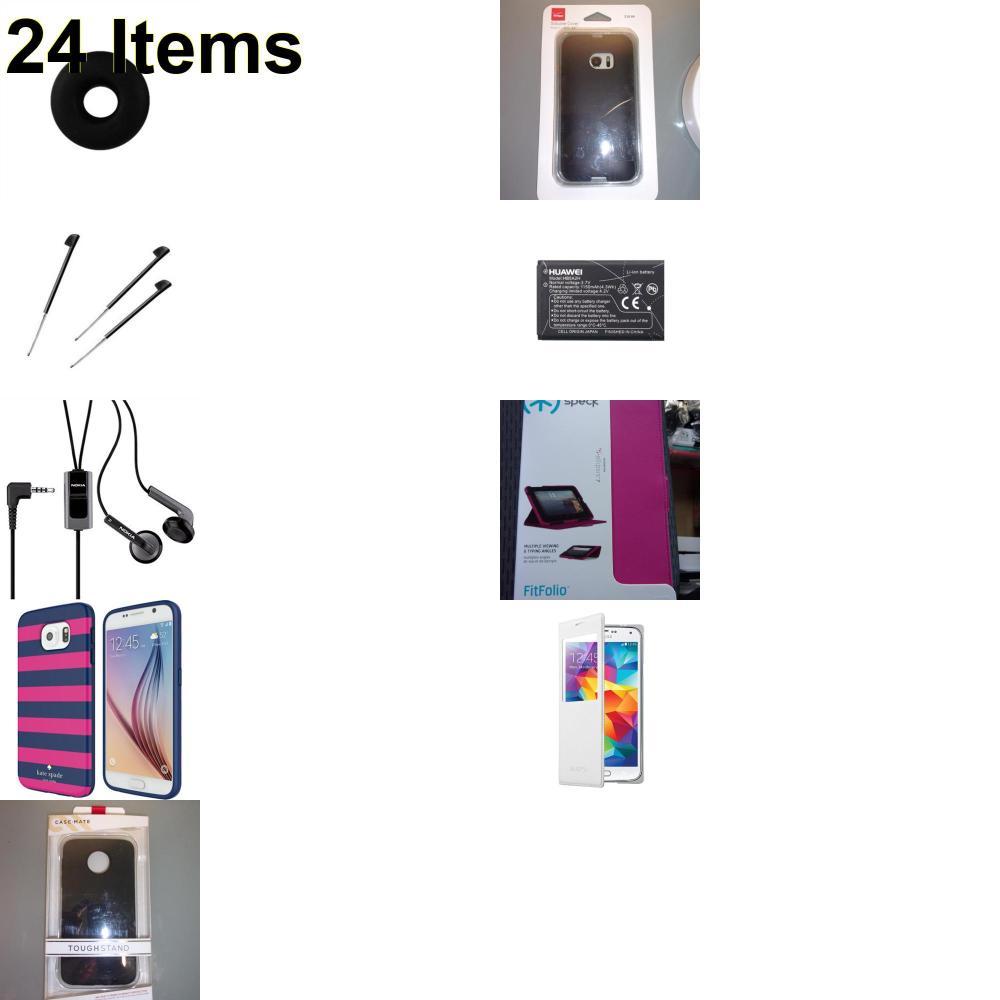 24 X **NEW** Phone Cases, Electronics and More (Cas-Mate,HP,Huawei,Jabra,Jawbone,Kate Spade,Nokia,Palm,Samsung,Speck,Tech21,Verizon)