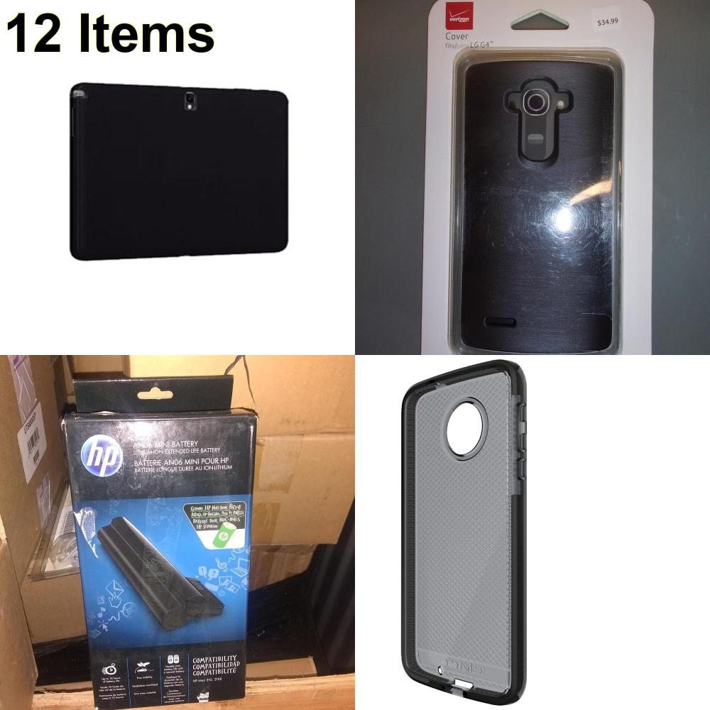 12 X **NEW** Phone Cases, Electronics and More (HP,Tech21,Verizon)