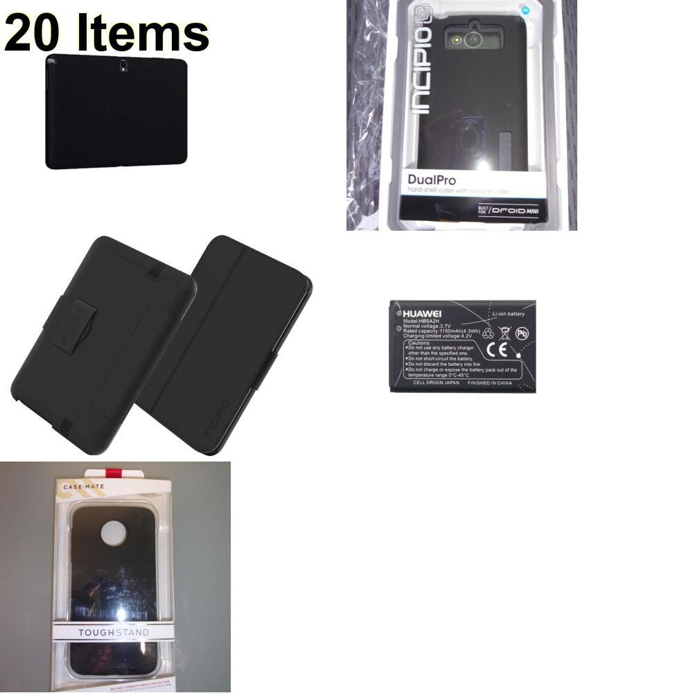 20 X **NEW** Phone Cases, Electronics and More (Cas-Mate,Huawei,Incipio,Verizon)