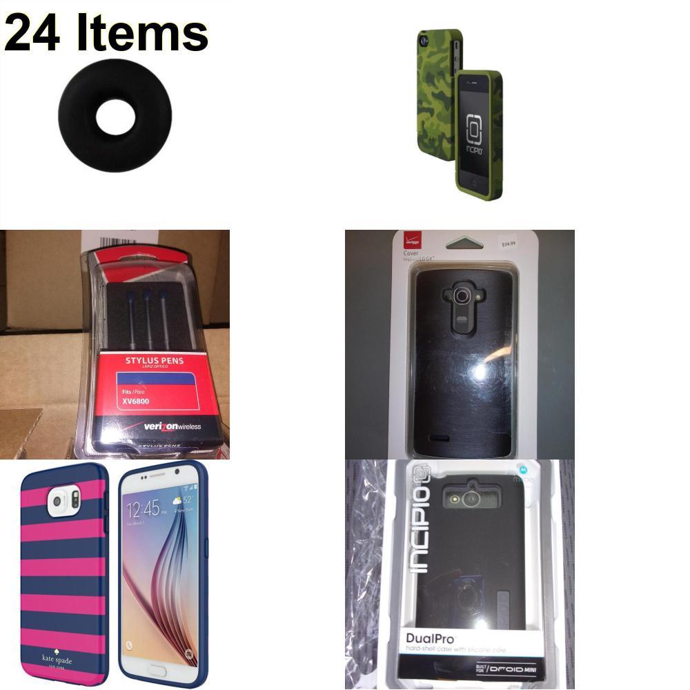 24 X **NEW** Phone Cases, Electronics and More (Incipio,Jawbone,Kate Spade,UTStarcom,Verizon)
