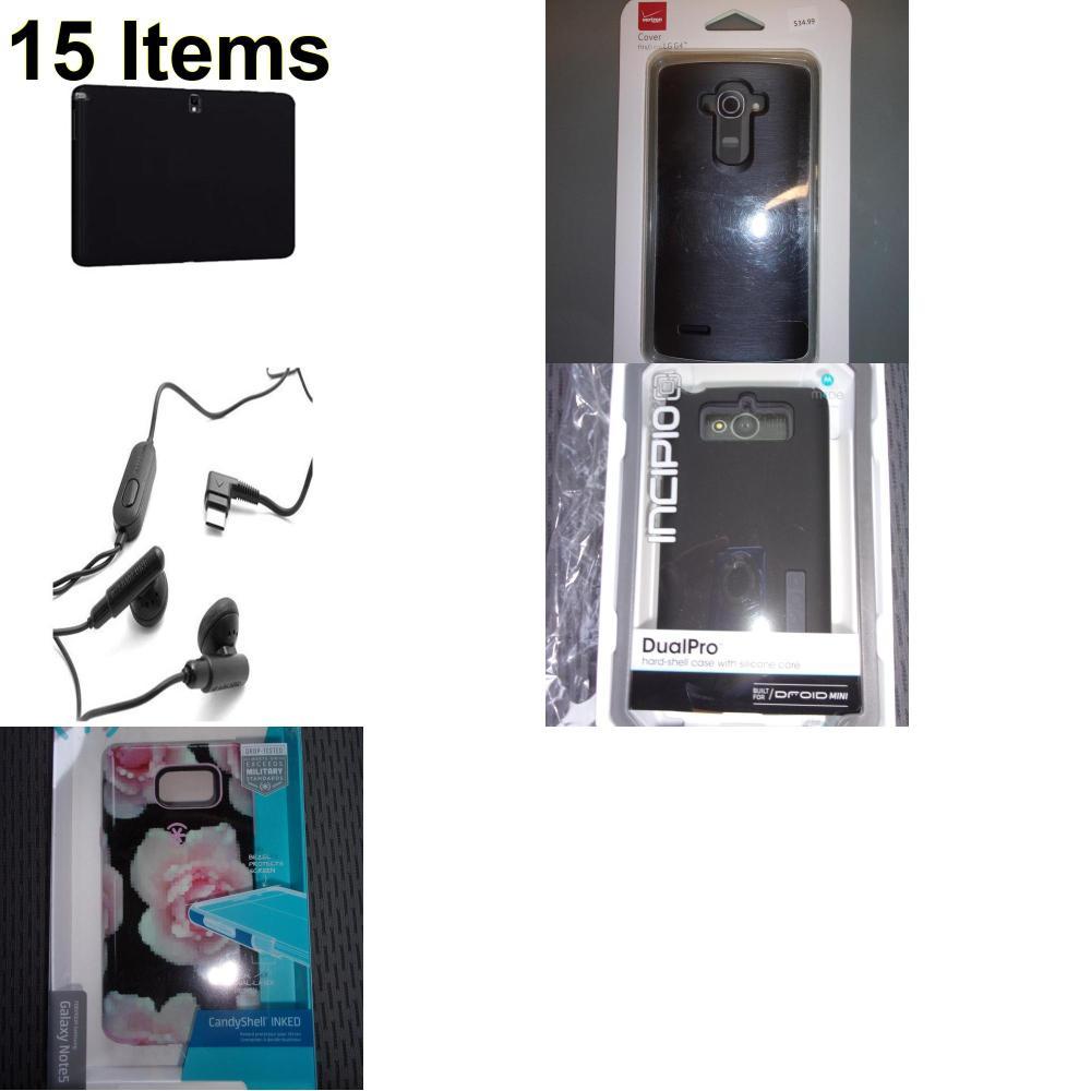 15 X **NEW** Phone Cases, Electronics and More (Incipio,Samsung,Speck,Verizon)