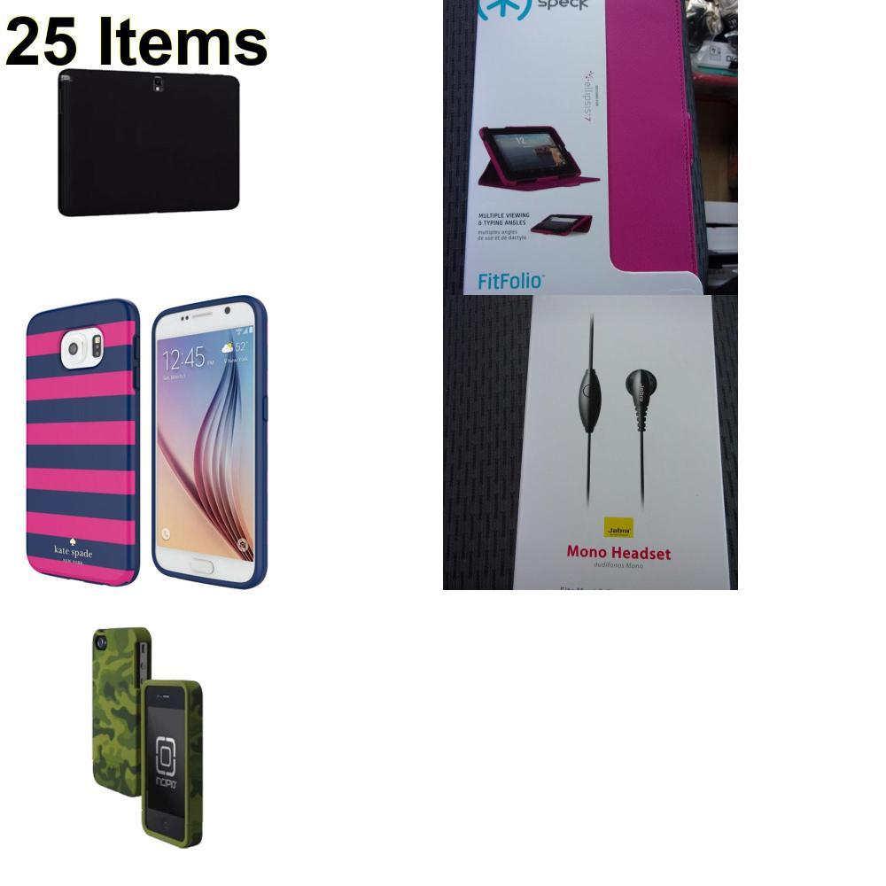 25 X **NEW** Phone Cases, Electronics and More (Incipio,Jabra,Kate Spade,Speck,Verizon)
