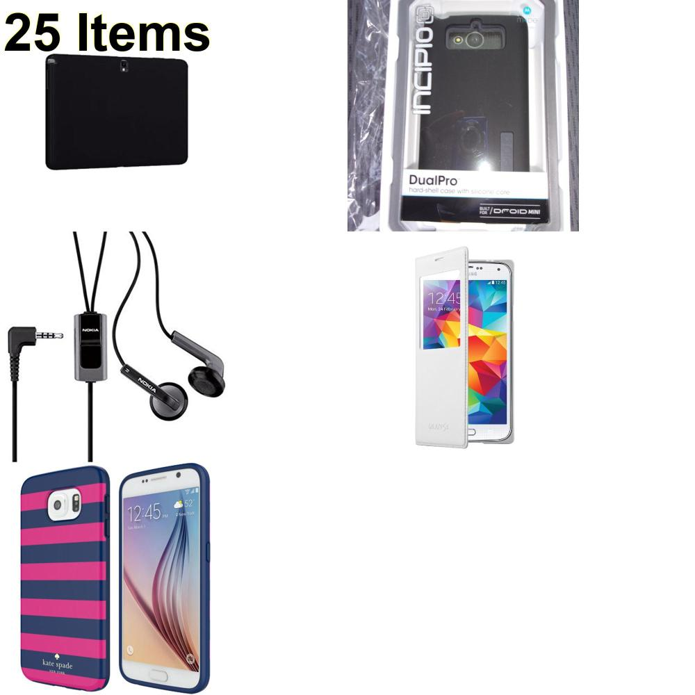 25 X **NEW** Phone Cases, Electronics and More (Incipio,Kate Spade,Nokia,Samsung,Verizon)