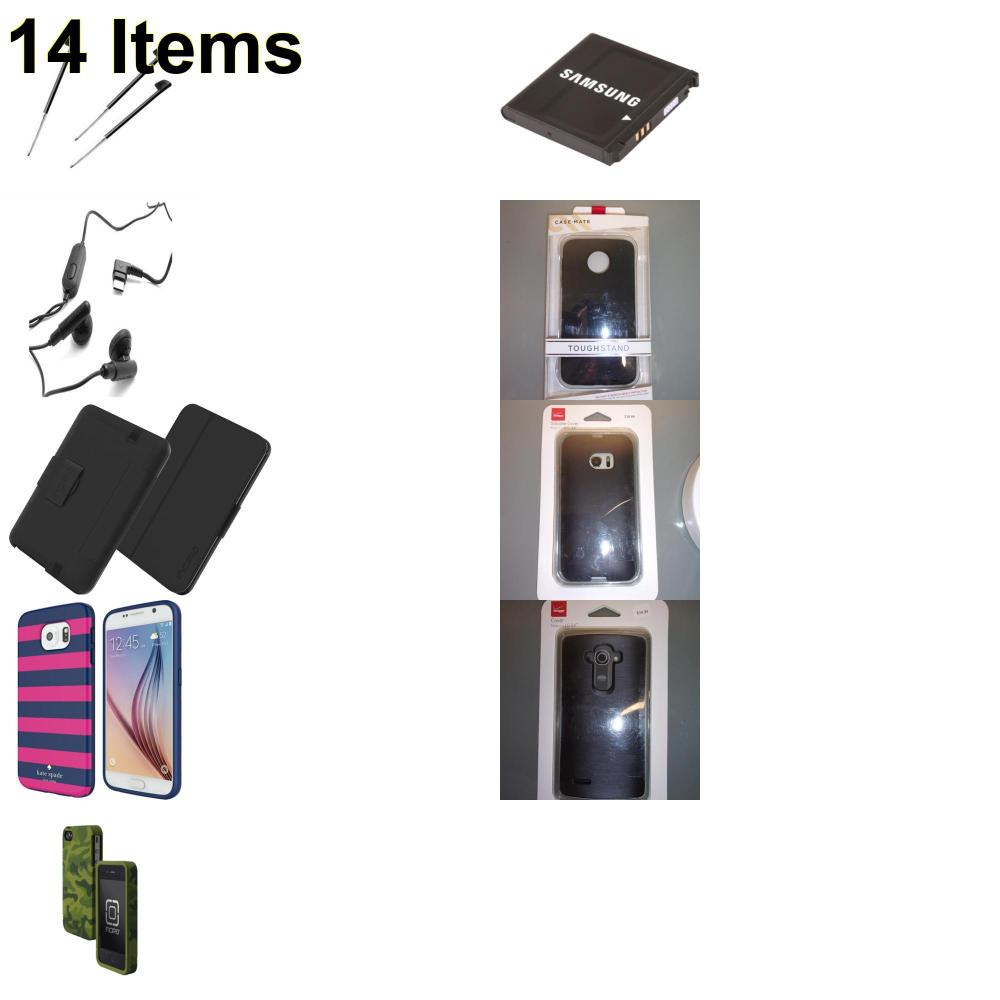 14 X **NEW** Phone Cases, Electronics and More (Cas-Mate,HP,Huawei,Incipio,Kate Spade,Palm,Samsung,Speck,Tech21,Verizon)