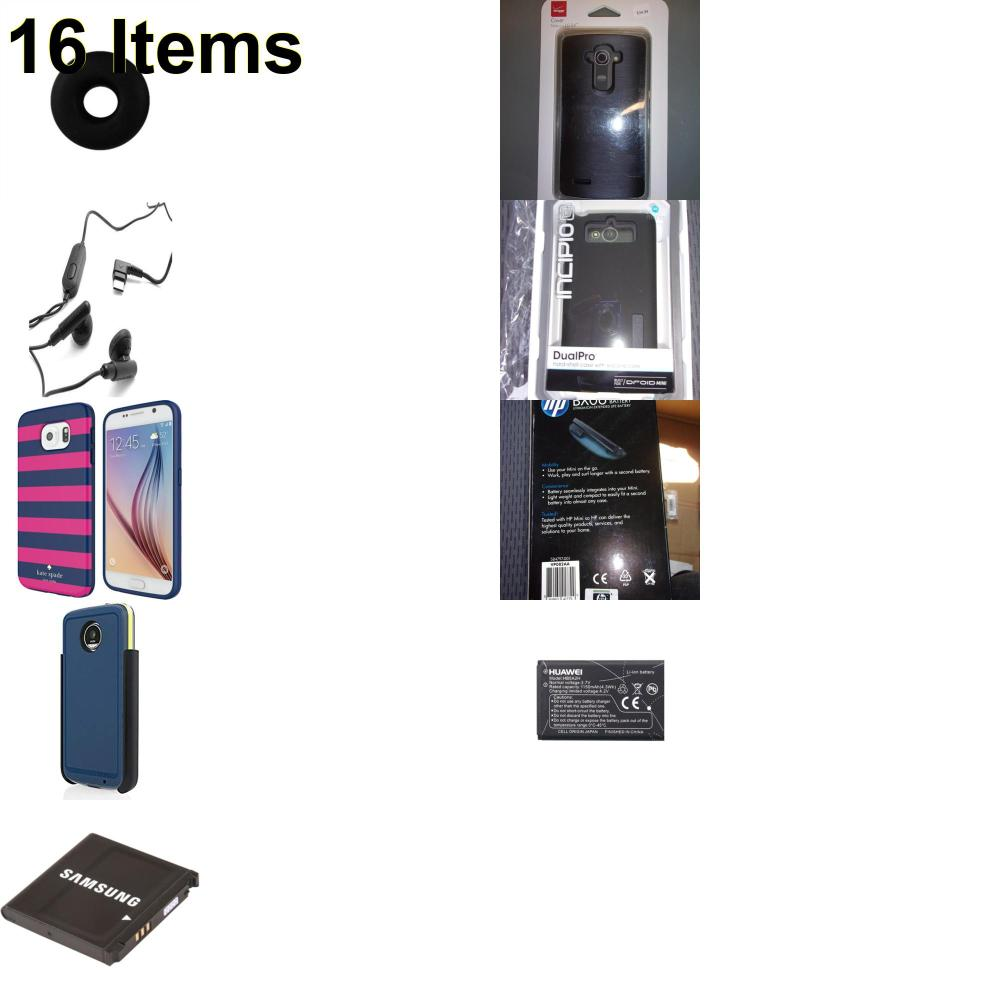 16 X **NEW** Phone Cases, Electronics and More (HP,Incipio,Jawbone,Kate Spade,Samsung,Verizon)