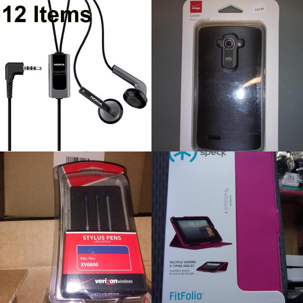12 X **NEW** Phone Cases, Electronics and More (Nokia,Speck,UTStarcom,Verizon)