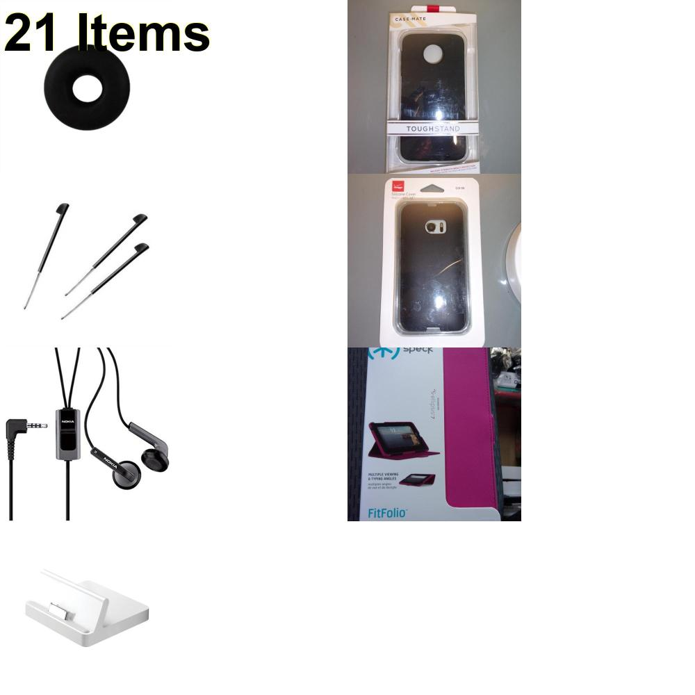 21 X **NEW** Phone Cases, Electronics and More (Apple,Cas-Mate,Jawbone,Nokia,Palm,Speck,Verizon)