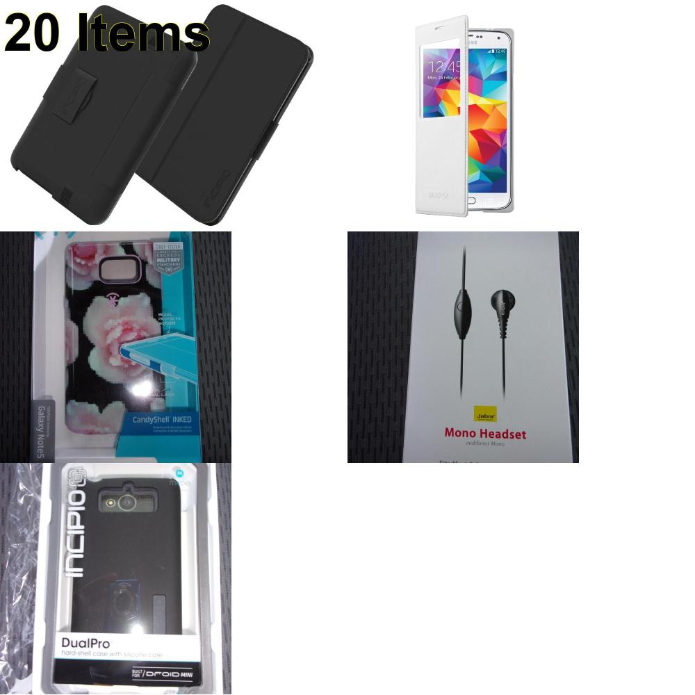 20 X **NEW** Phone Cases, Electronics and More (Incipio,Jabra,Samsung,Speck)