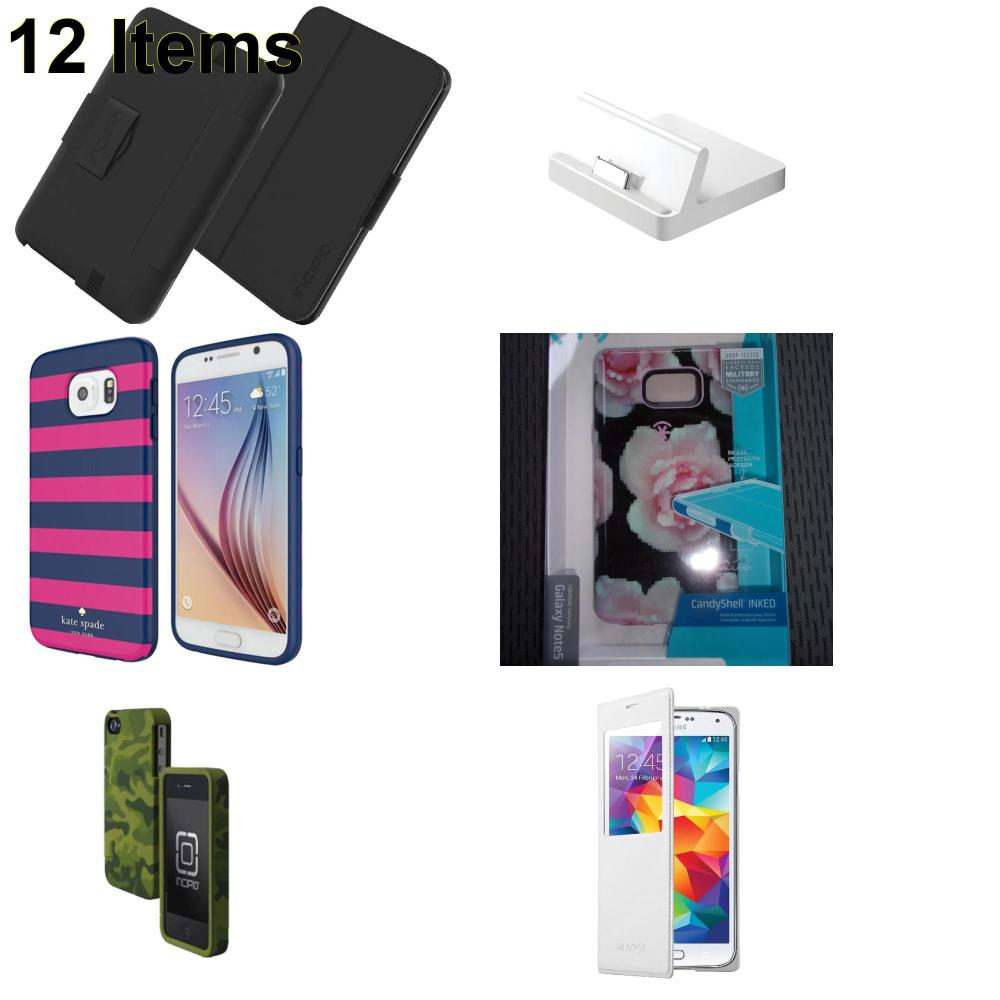 12 X **NEW** Phone Cases, Electronics and More (Apple,Incipio,Kate Spade,Samsung,Speck)