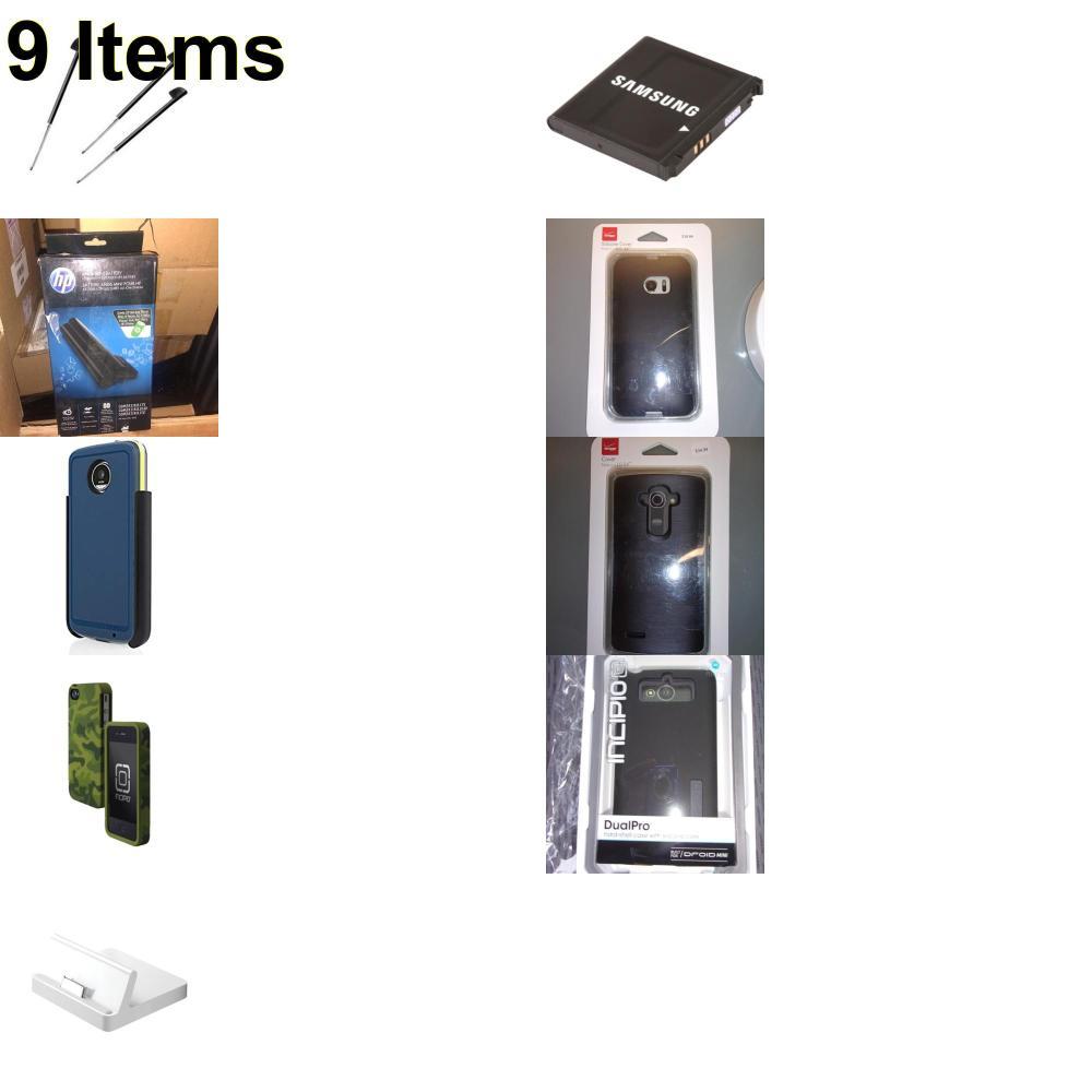 9 X **NEW** Phone Cases, Electronics and More (Apple,HP,Incipio,Palm,Samsung,Verizon)