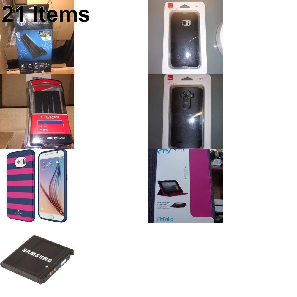 21 X **NEW** Phone Cases, Electronics and More (HP,Kate Spade,Samsung,Speck,UTStarcom,Verizon)
