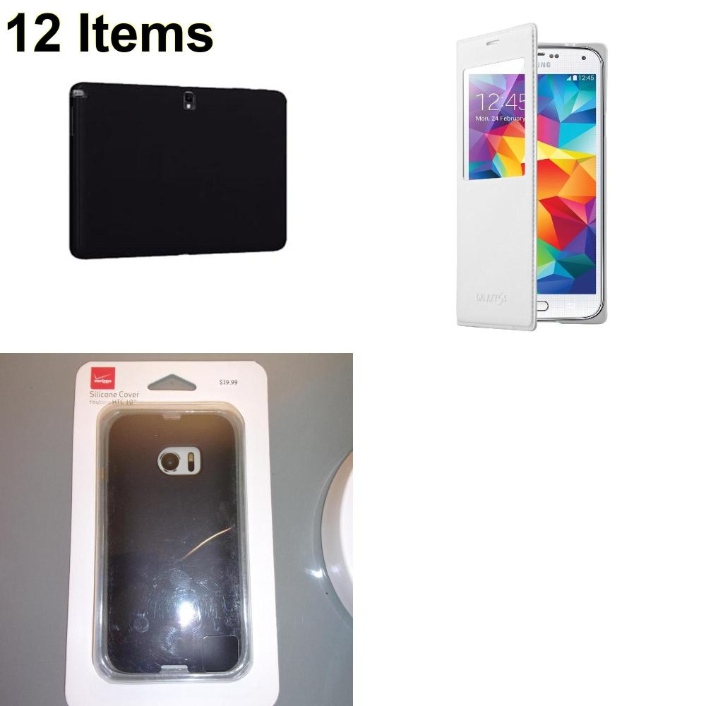 12 X **NEW** Phone Cases, Electronics and More (Samsung,Verizon)