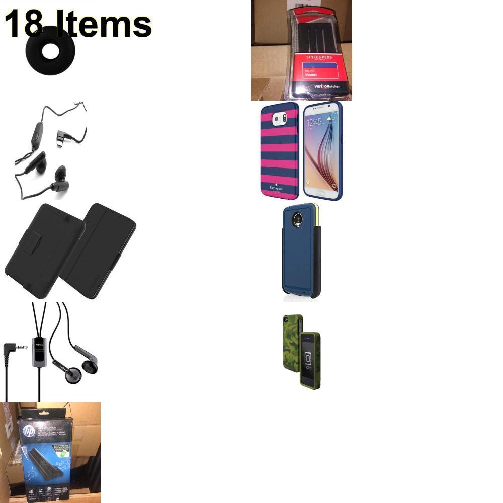 18 X **NEW** Phone Cases, Electronics and More (Apple,Cas-Mate,HP,Incipio,Jabra,Jawbone,Kate Spade,Nokia,Samsung,Speck,Tech21,UTStarcom,Verizon)
