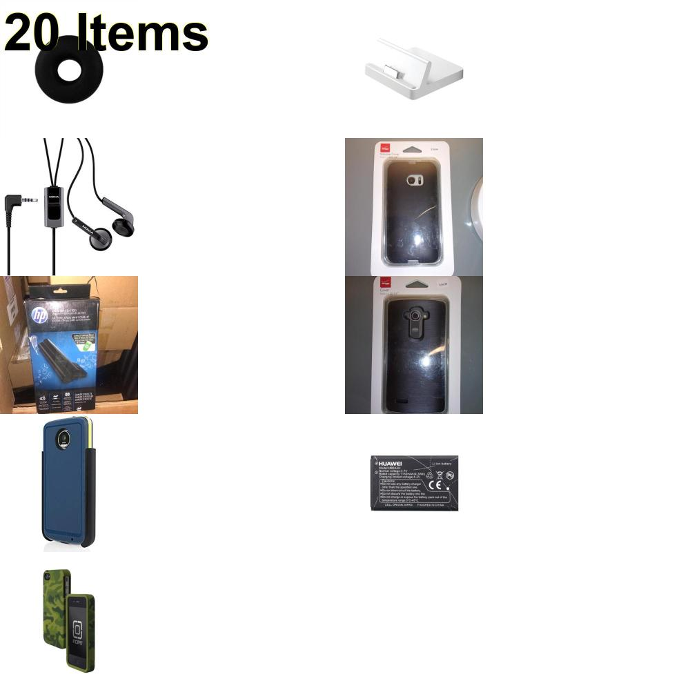 20 X **NEW** Phone Cases, Electronics and More (Apple,HP,Huawei,Incipio,Jawbone,Nokia,Tech21,Verizon)