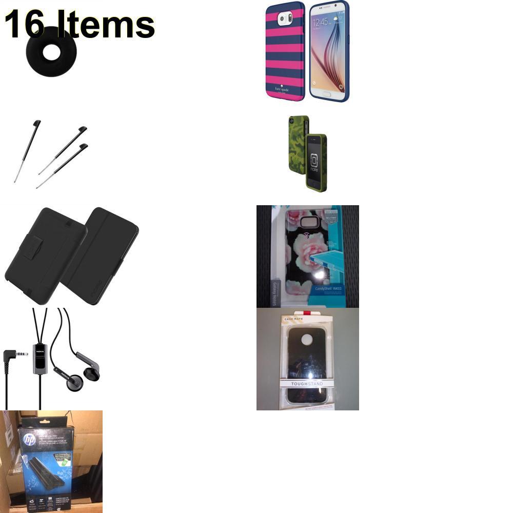 16 X **NEW** Phone Cases, Electronics and More (Cas-Mate,HP,Huawei,Incipio,Jabra,Jawbone,Kate Spade,Nokia,Palm,Speck,Tech21,Verizon)
