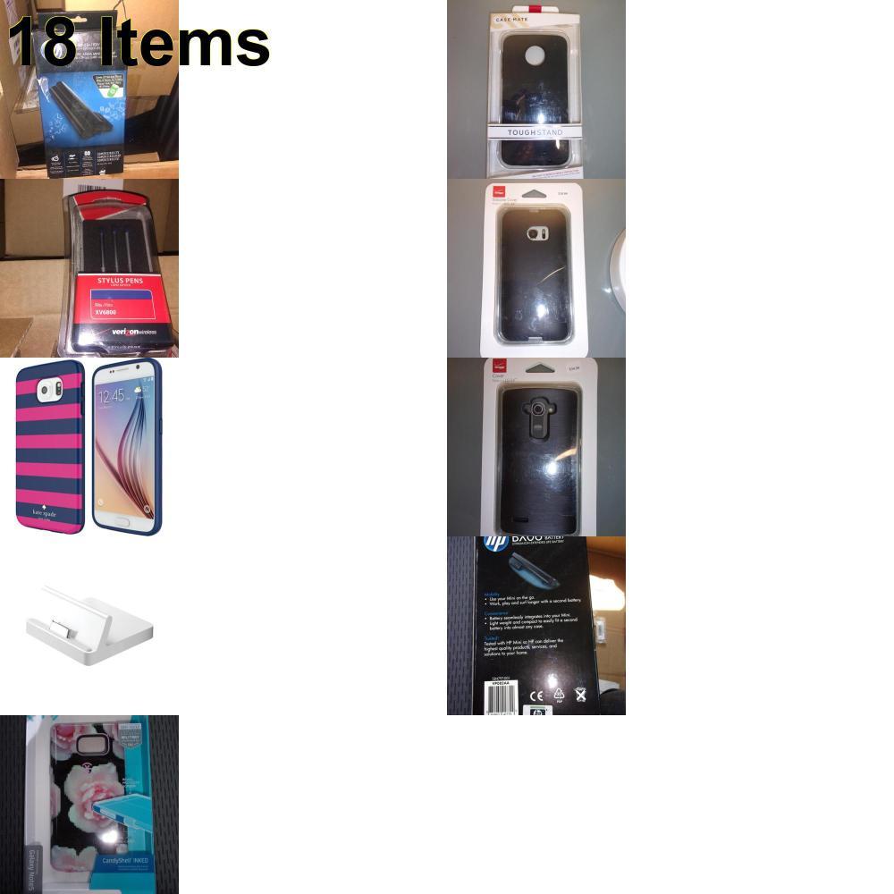 18 X **NEW** Phone Cases, Electronics and More (Apple,Cas-Mate,HP,Kate Spade,Speck,UTStarcom,Verizon)