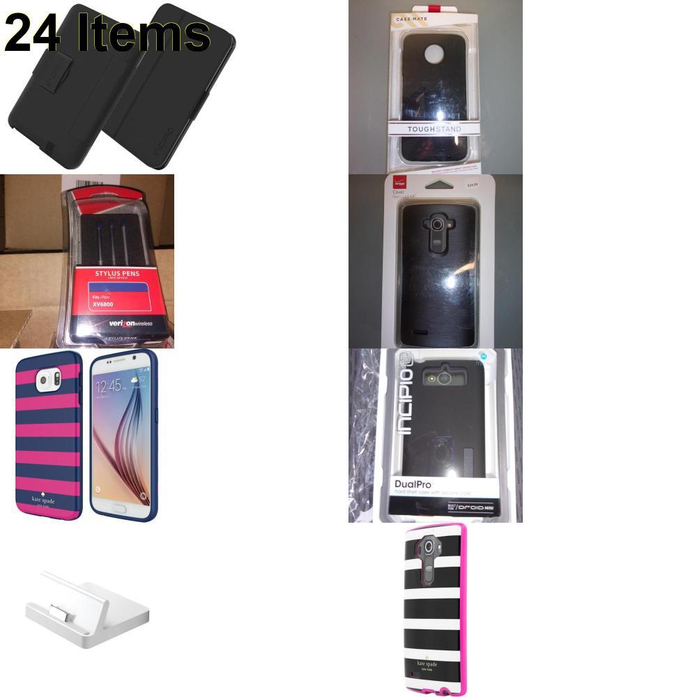 24 X **NEW** Phone Cases, Electronics and More (Apple,Cas-Mate,Incipio,Kate Spade,UTStarcom,Verizon)
