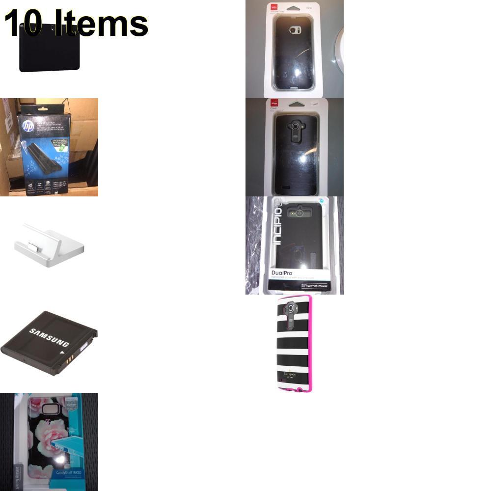 10 X **NEW** Phone Cases, Electronics and More (Apple,HP,Incipio,Jabra,Kate Spade,Samsung,Speck,Verizon)