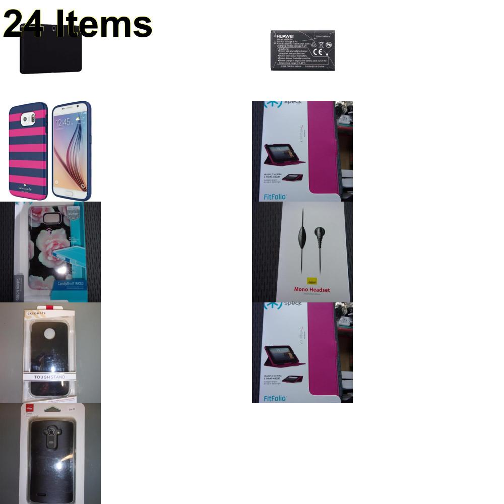24 X **NEW** Phone Cases, Electronics and More (Cas-Mate,Huawei,Jabra,Kate Spade,Speck,Verizon)
