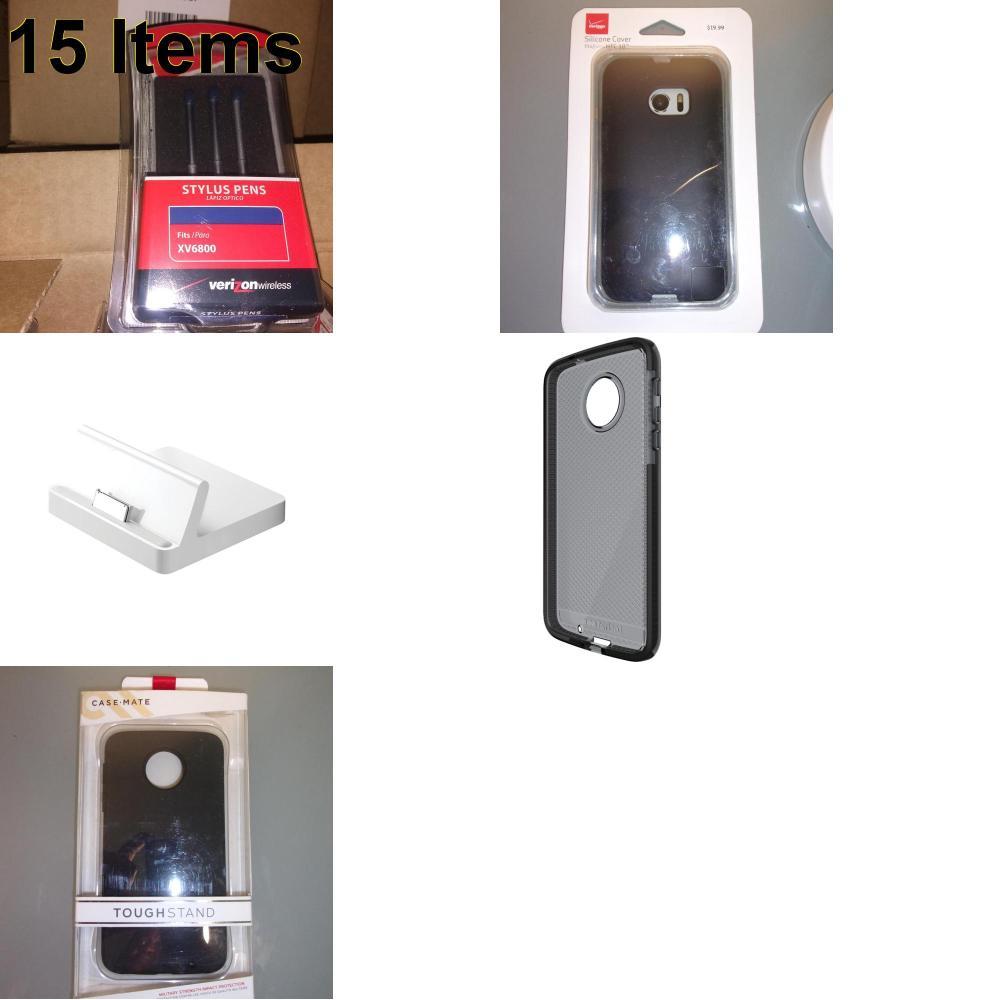15 X **NEW** Phone Cases, Electronics and More (Apple,Cas-Mate,Tech21,UTStarcom,Verizon)