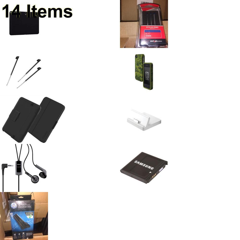 14 X **NEW** Phone Cases, Electronics and More (Apple,HP,Incipio,Jabra,Nokia,Palm,Samsung,Speck,Tech21,UTStarcom,Verizon)