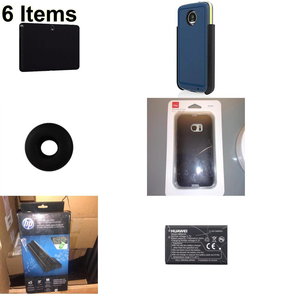 6 X **NEW** Phone Cases, Electronics and More (HP,Huawei,Incipio,Jawbone,Verizon)