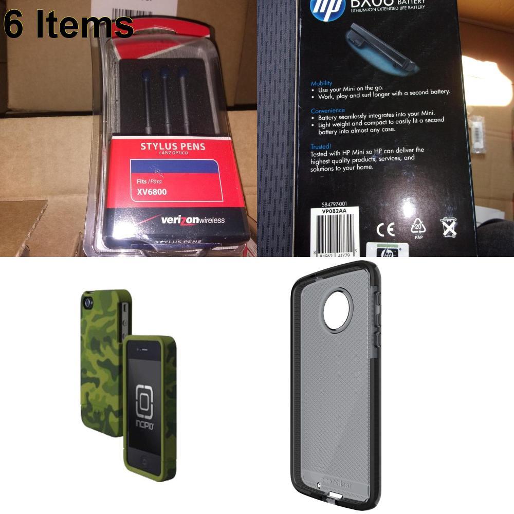 6 X **NEW** Phone Cases, Electronics and More (Incipio,UTStarcom)