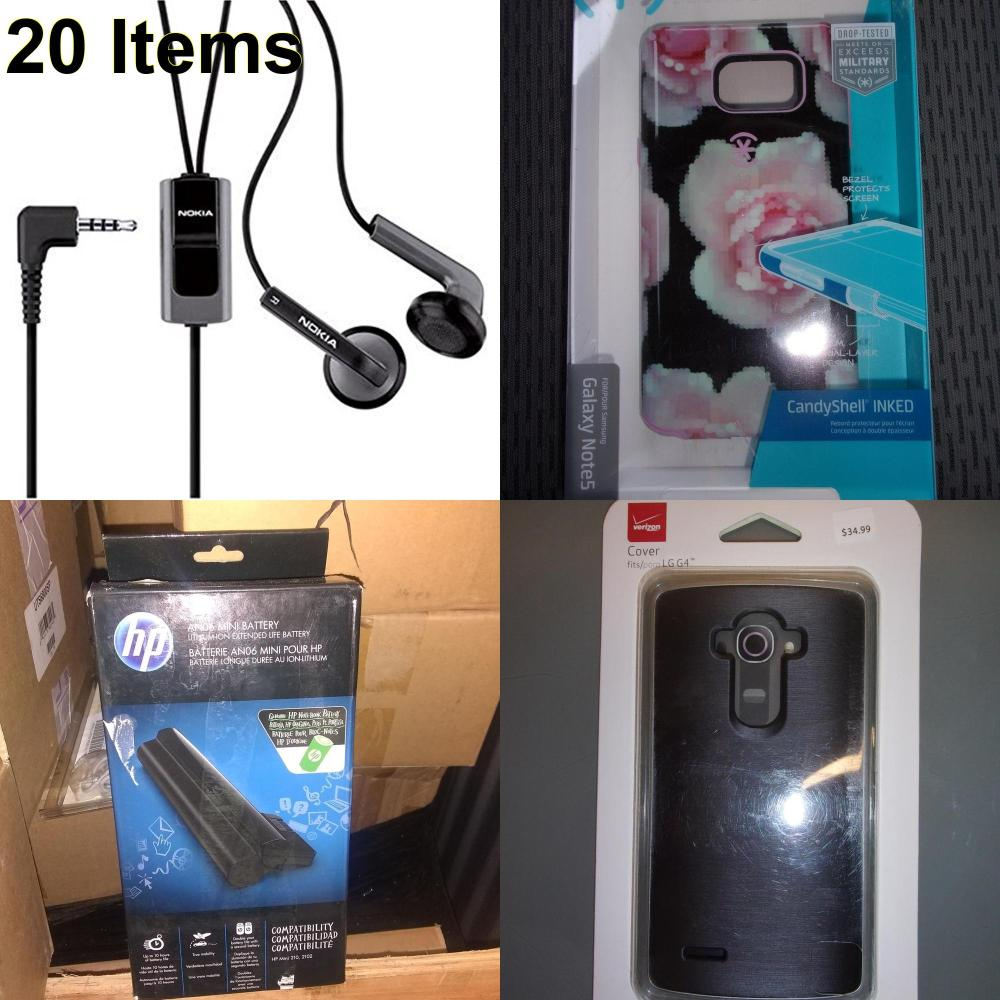 20 X **NEW** Phone Cases, Electronics and More (HP,Nokia,Speck,Verizon)