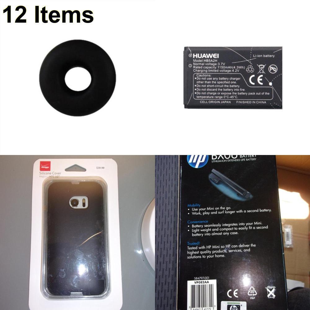 12 X **NEW** Phone Cases, Electronics and More (HP,Huawei,Jawbone,Verizon)