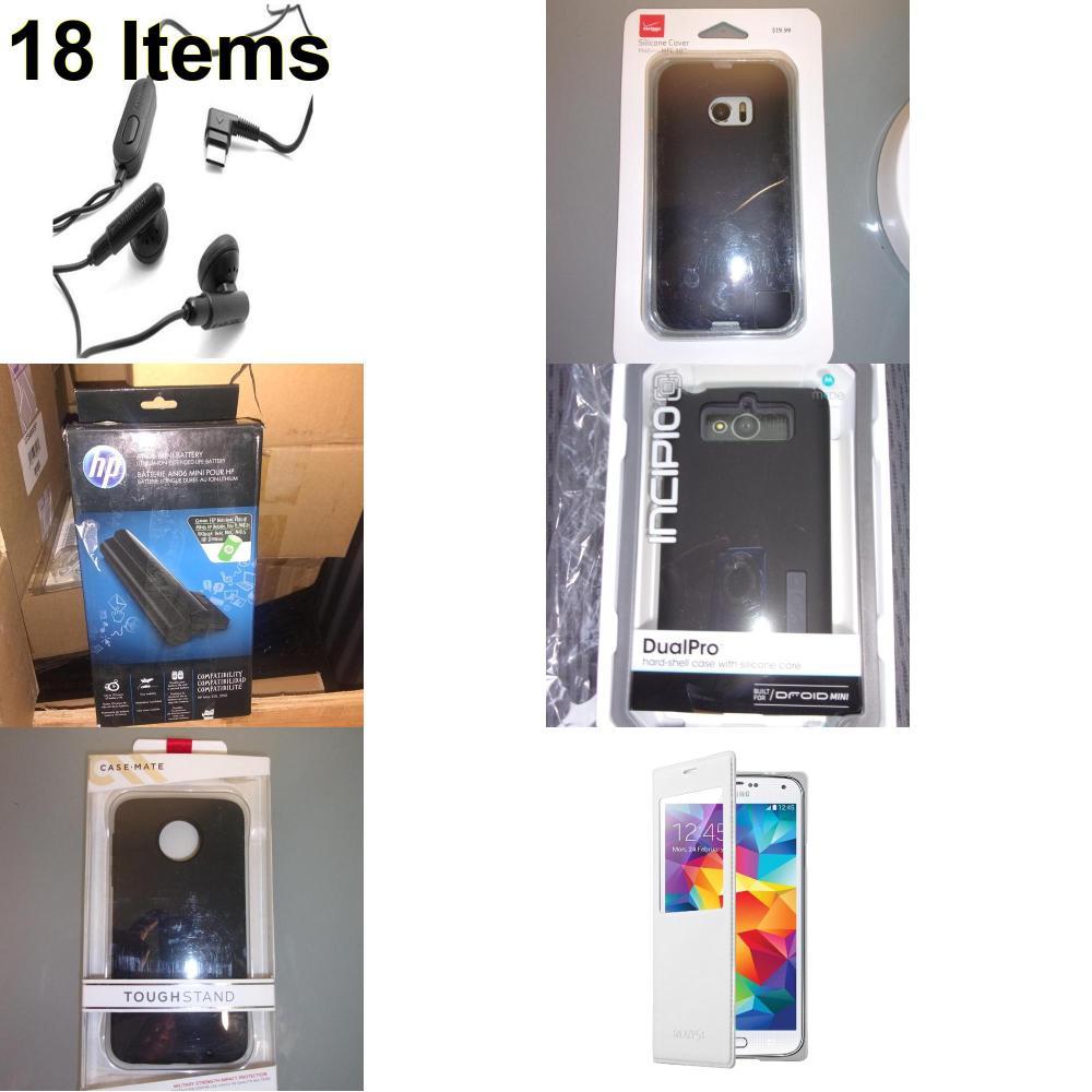 18 X **NEW** Phone Cases, Electronics and More (Cas-Mate,HP,Incipio,Samsung,Verizon)