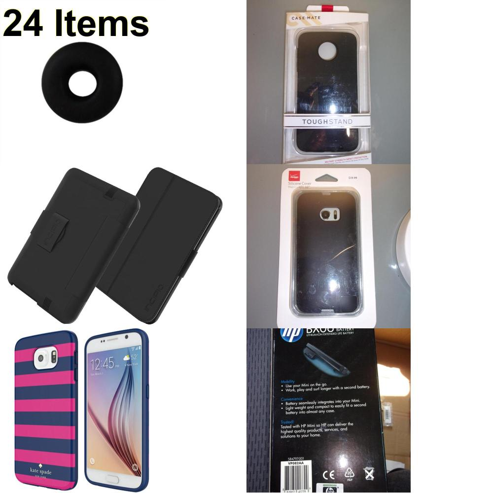 24 X **NEW** Phone Cases, Electronics and More (Cas-Mate,HP,Incipio,Jawbone,Kate Spade,Verizon)