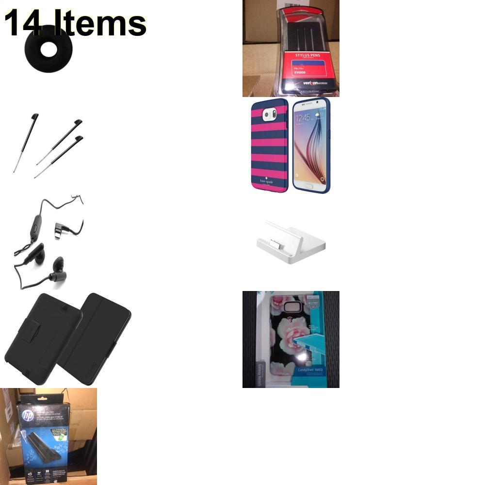 14 X **NEW** Phone Cases, Electronics and More (Apple,HP,Huawei,Incipio,Jawbone,Kate Spade,Palm,Samsung,Speck,Tech21,UTStarcom)