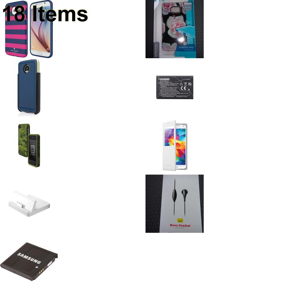 18 X **NEW** Phone Cases, Electronics and More (Apple,Huawei,Incipio,Jabra,Kate Spade,Samsung,Speck)
